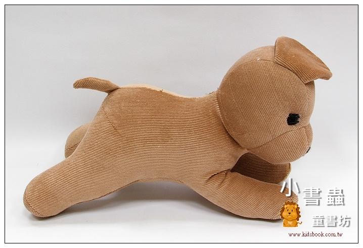 內頁放大:手工綿柔音樂布偶:小狗─ 咖啡色(台灣製造)