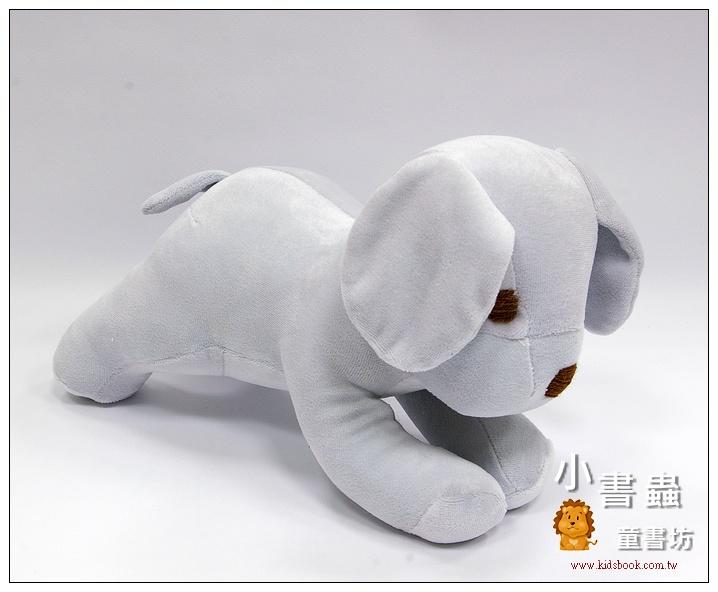 內頁放大:手工綿柔音樂布偶:小狗─ 灰色(台灣製造)