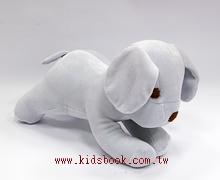 手工綿柔音樂布偶:小狗─ 灰色(台灣製造)