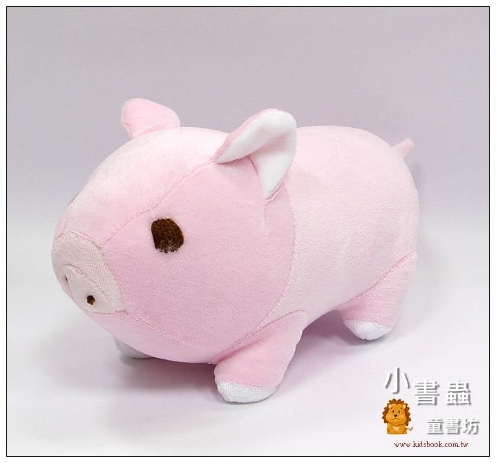 內頁放大:手工綿柔布偶:迷你豬─ 粉紅(台灣製造)
