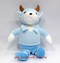 手工綿柔音樂布偶:小牛─ 天藍(台灣製造)