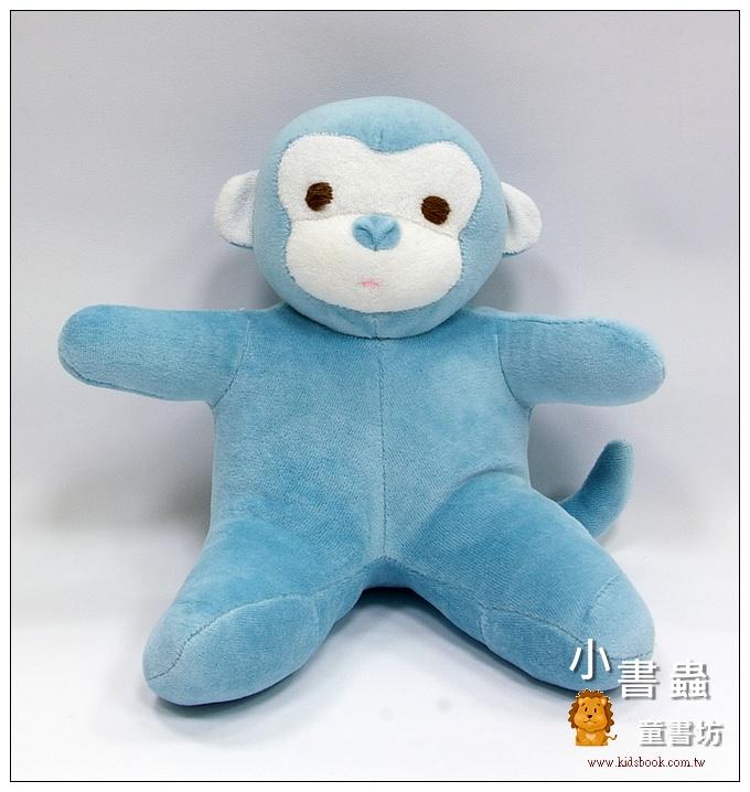 內頁放大:手工綿柔音樂布偶:小猴子─ 藍(台灣製造)