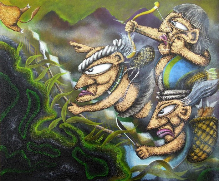 內頁放大:原住民族語繪本1:伍姆的嘛喳MACA KI UMU (魯凱族語、中文、英文)