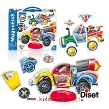 磁鐵遊戲:創意磁鐵賽車組