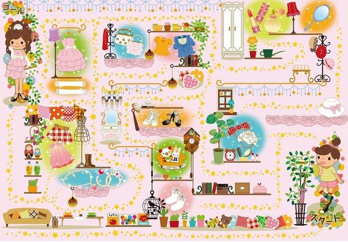 內頁放大:30pcs 派對迷宮:日本幼兒紙板拼圖(現貨:3)(特價出清)