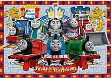 30pcs 湯瑪士鐵路王:日本幼兒紙板拼圖