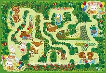 32pcs可愛的森林迷宮:日本幼兒紙板拼圖