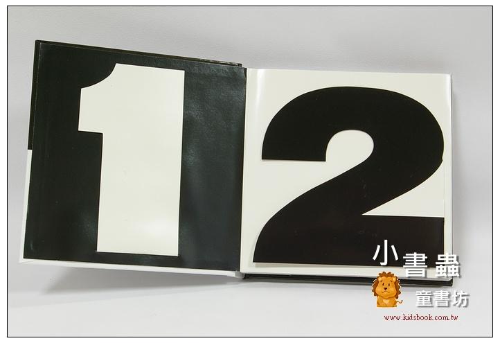 內頁放大:黑白立體操作書:ONE TO TEN(英日文版)