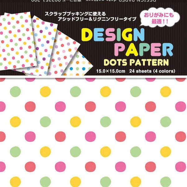 內頁放大:日本色紙(花式)(單面):彩色點點(現貨:5)