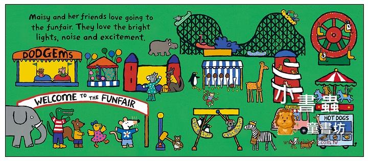 內頁放大:小鼠波波立體書(含拉拉操作):Maisy,s Funfair:A Maisy Pop-up-and-Play Book(波波遊樂園)