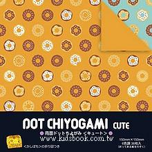 日本花紙(雙面):可愛甜甜圈(6色調36枚)(現貨數量>5)