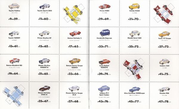 內頁放大:紙勞作DIY:汽車2 黃金時代的日本車篇