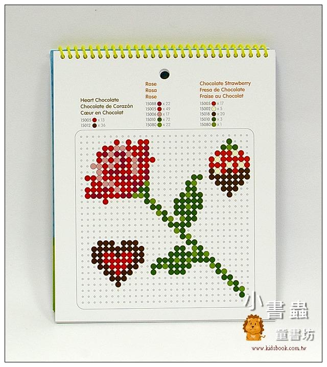 內頁放大:拼拼豆豆:一比一造型圖案創意示範書(三)歡樂節慶