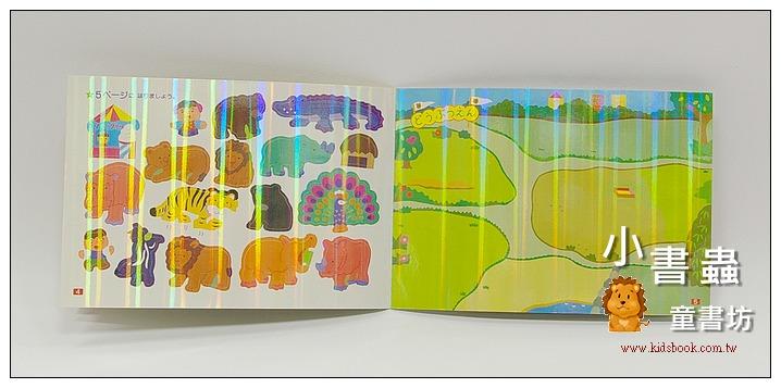 內頁放大:日本靜電貼紙遊戲本:可愛動物園(閃亮版)現貨數量:4