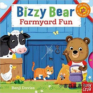 推、拉、轉硬頁操作書:BIZZY BEAR Farmyard Fun