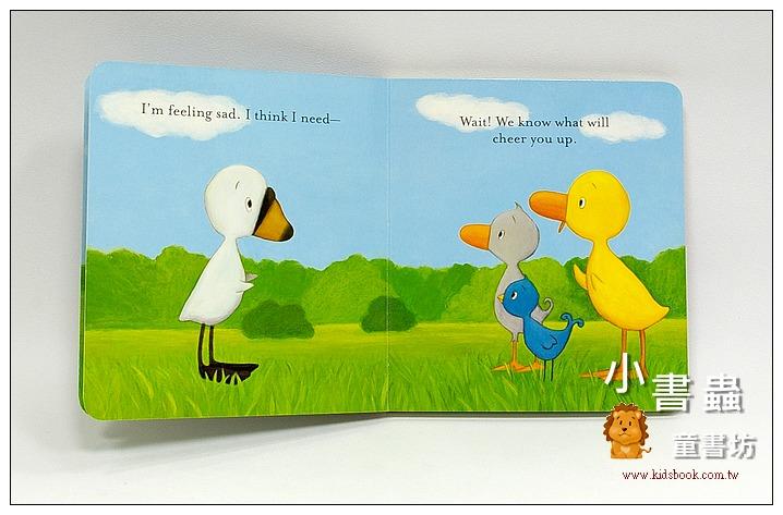 內頁放大:小鴨和小鵝可愛硬頁書:DUCK GOOSE: GOOSE NEEDS A HUG