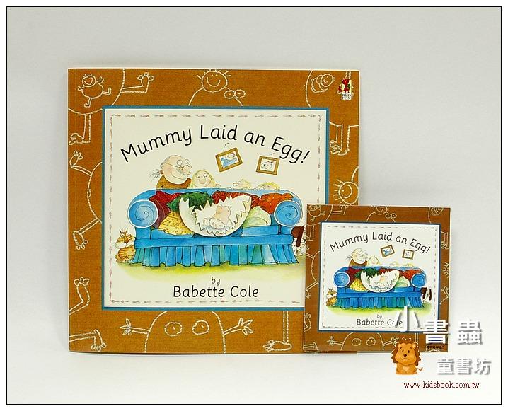 內頁放大:Mummy Laid an Egg!(平裝書+CD)(媽媽生了一個蛋)