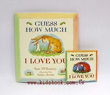 GUESS HOW MUCH I LOVE YOU(猜猜我有多愛你)平裝書+CD