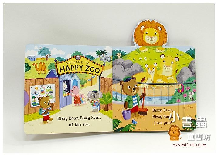 內頁放大:推、拉、轉硬頁操作書:BIZZY BEAR Zoo Ranger