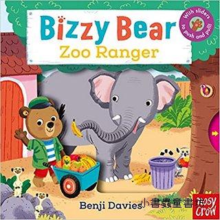推、拉、轉硬頁操作書:BIZZY BEAR Zoo Ranger