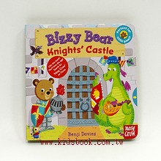 推、拉、轉硬頁操作書:BIZZY BEAR Knights, Castle