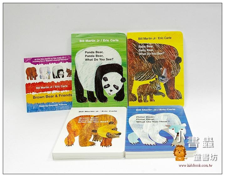 內頁放大:Brown Bear and Friends 有聲套組(4本硬頁書+1CD) (85折)