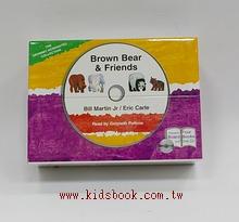 艾瑞.卡爾 Brown Bear and Friends 有聲套組(4本硬頁書+1CD) (85折)