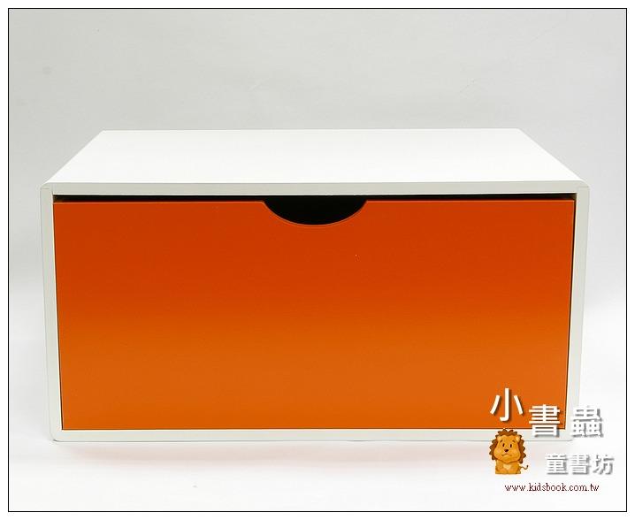 內頁放大:抽屜收納櫃─橙(單抽)(不適用貨到收款)