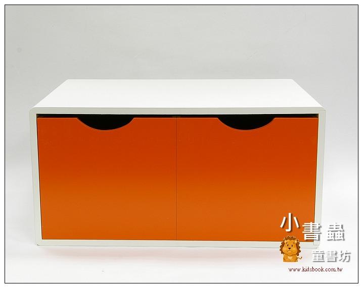 內頁放大:抽屜收納櫃─橙(雙抽)(不適用貨到收款)