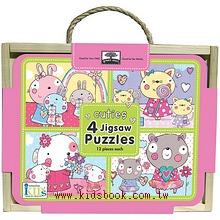 木盒裝可愛拼圖(12PCS*4)Cuties