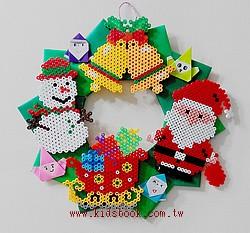 拼拼豆豆聖誕(5作品)+圈圈材料包(含二大模板)