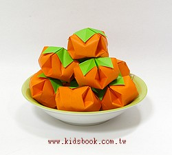 事事(柿柿)如意「柿子」摺紙材料包