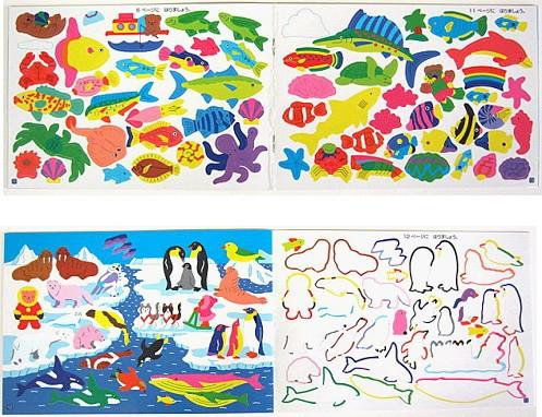 內頁放大:日本靜電貼紙遊戲本:熊寶寶海中冒險(正規版)現貨數量:3
