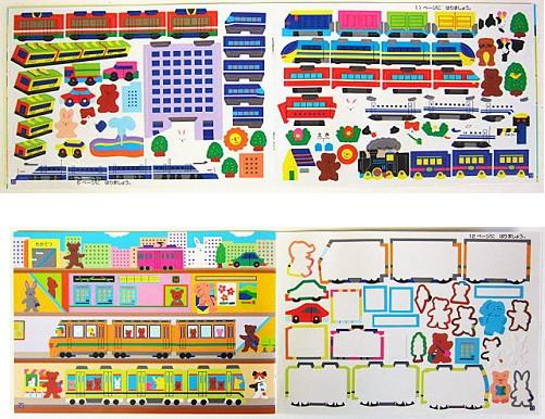 內頁放大:日本靜電貼紙遊戲本:火車大集合(正規版)現貨數量:1