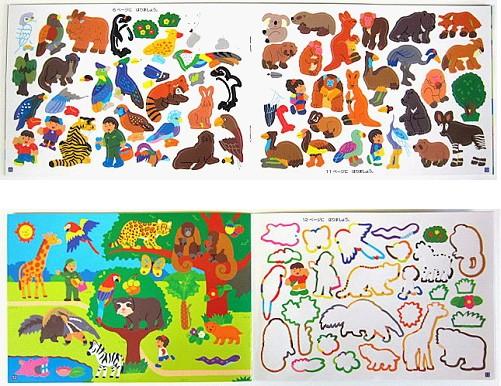 內頁放大:日本靜電貼紙遊戲本:動物園(正規版)現貨數量:2