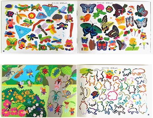 內頁放大:日本靜電貼紙遊戲本:昆蟲世界(正規版)