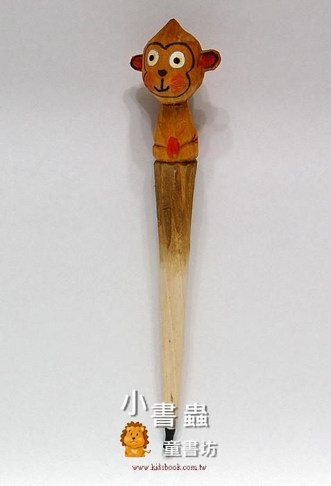 內頁放大:小猴子:純手工木頭動物筆(原子筆)