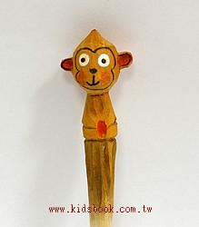 小猴子:純手工木頭動物筆(原子筆)