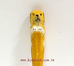 小拉不拉多犬:純手工木頭動物原子筆(藍)(現貨數量:1)