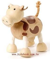 乳牛:澳洲Anamalz有機楓木動物玩偶