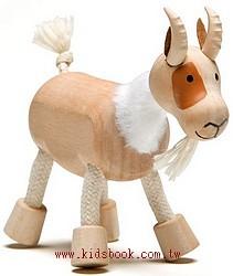 山羊:澳洲Anamalz有機楓木動物玩偶