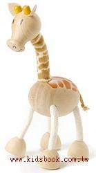 長頸鹿:澳洲Anamalz有機楓木動物玩偶