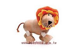 獅子:澳洲Anamalz有機楓木動物玩偶