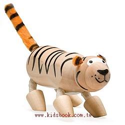 老虎:澳洲Anamalz有機楓木動物玩偶