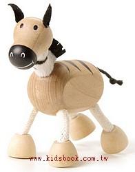 斑馬:澳洲Anamalz有機楓木動物玩偶