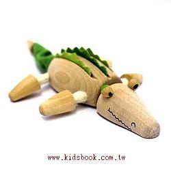 鱷魚:澳洲Anamalz有機楓木動物玩偶