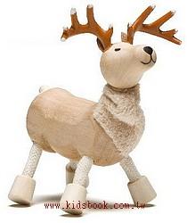 鹿:澳洲Anamalz有機楓木動物玩偶