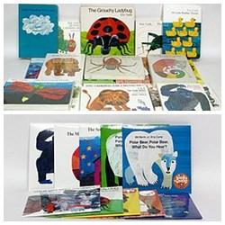 Eric Carle(艾瑞.卡爾)原文硬頁繪本20書+11CD(加送好餓的毛毛蟲環保手提袋)(85折)