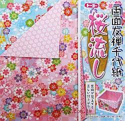 兩面友禪千代紙─櫻花(櫻花)
