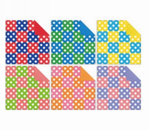內頁放大:日本花紙(雙面):點點拼貼(6色調36枚)(現貨數量>5)